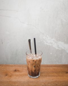 vaso leche cacao